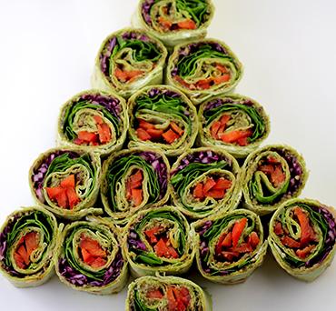 Christmas Lavash Pinwheel Appetizer