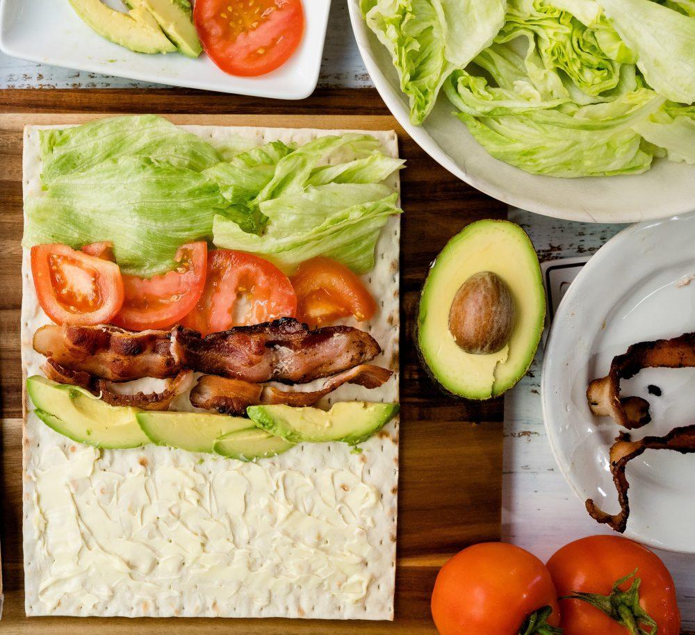 Lavash BLT and Avocado Wrap