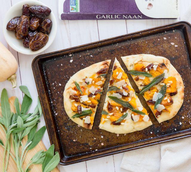 Squash and Sage Garlic Naan
