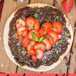strawberry nutella pita heart