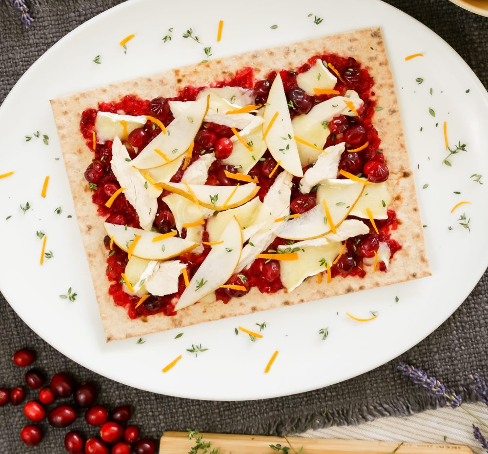 Cranberry, Brie, and Apple Lavash