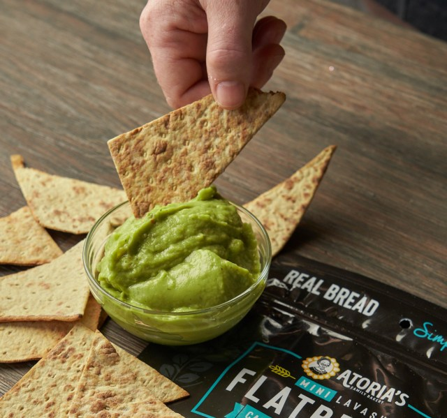 Lavash Points with Creamy Guac