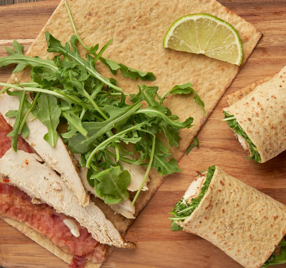 Chicken, Bacon, Arugula CBA Wrap