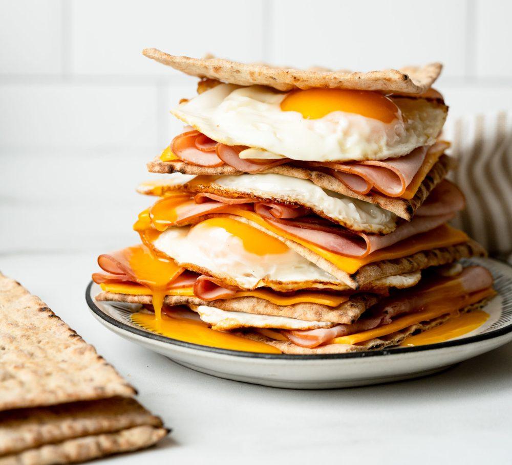 Fold-over Egg Sandwich