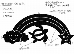 166:アルミ製虹+雲+星+ホヌ妻飾り