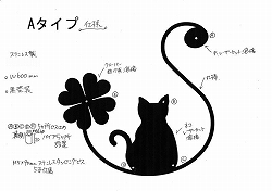 170:ステンレス製イニシャルS+猫妻飾り