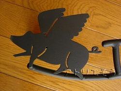 フライングピックの表札です。ロートアイアン風アルミ製表札です。
