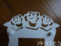 薔薇インターホンカバー ロートアイアン風錆に強いステンレス製薔薇のインターホンカバー