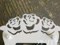 ロートアイアン風錆に強いステンレス製薔薇のインターホンカバー