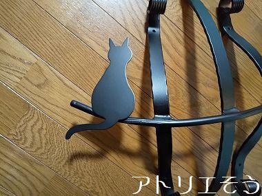 オリジナルアルミ製妻飾り+猫