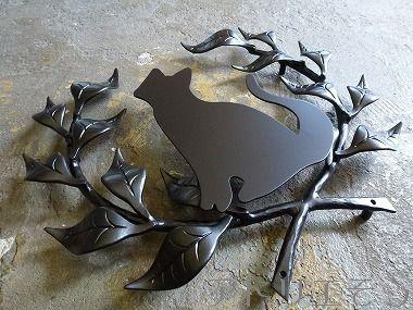 18-猫妻飾り 。錆に強いアルミ製妻飾り