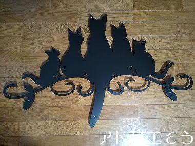 猫5匹妻飾り② 。錆に強いステンレス製妻飾り。