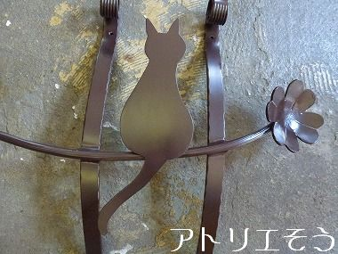 41-猫妻飾り 。錆に強いアルミ製妻飾り