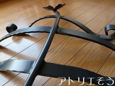 アルミ製妻飾りCタイプ 。三本線と四葉のクローバー妻飾り 。錆に強いアルミ製妻飾り。