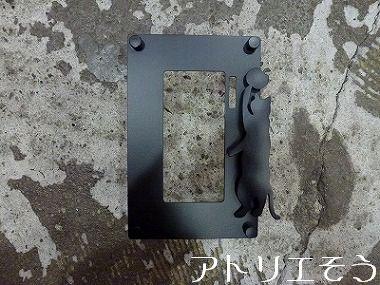 ④猫モチーフのインターホンカバー 錆に強いステンレス製インターホンカバー