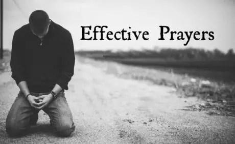 Effective prayers and powerful prayers