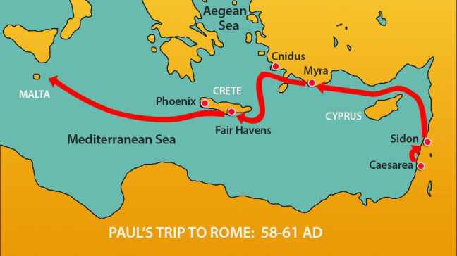 Paul's-trip-to-Rome