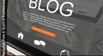 Image of a blog on a computer screen