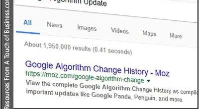 Image of screenshot of a google algorithm search