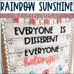 Rainbow Sunshine Bulletin Board Example