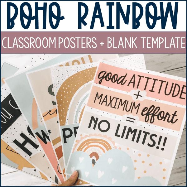 Boho Rainbow Posters