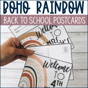 Boho Rainbow Postcards