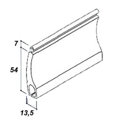 Lames de volet roulant en aluminium 54 mm