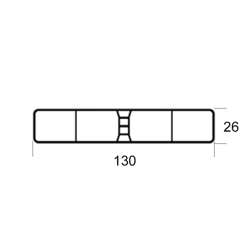 lisse pvc blanc 130x26 pour cloture et portail