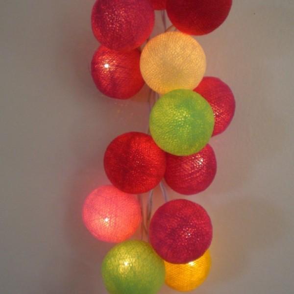 Guirlande de 35 boules lumineuses