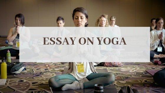 yoga essay in english