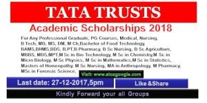 TATA Trusts Academic Scholarships