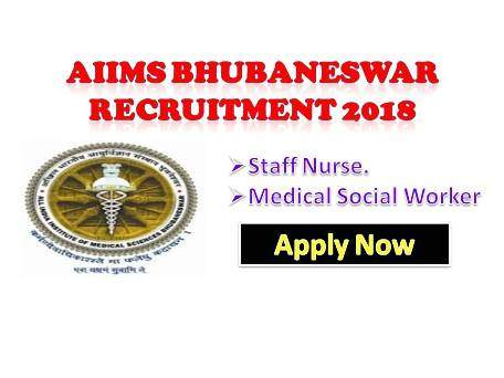 AIIMS Bhubaneshwar Staff Nurse jobs