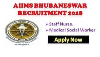 AIIMS Bhubaneshwar Staff Nurse jobs