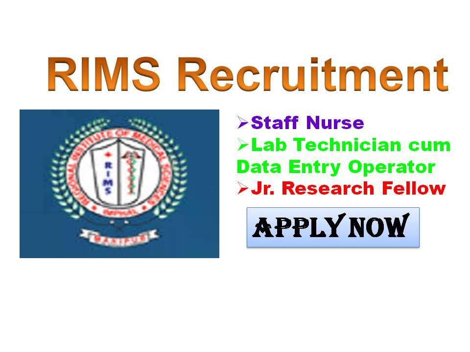 RIMS Imphal Govt Staff Nurse Recruitment