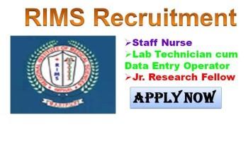 RIMS Imphal Govt Staff Nurse Recruitment