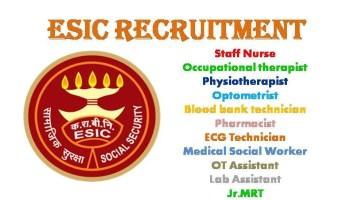 ESIC 1511 Govt Staff Nurse Recruitment