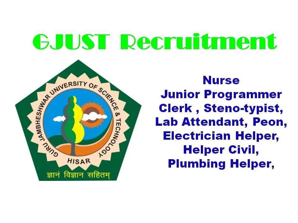 GJUST Recruitment
