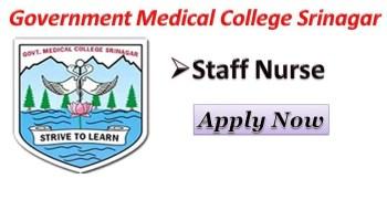 Government Medical college Srinagar Recruitment.
