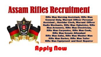 Assam Rifles Nursing Assistant Recruitment