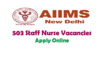 AIIMS Delhi Nursing Recruitment 2019