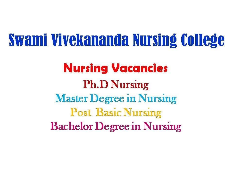 SSV Nursing College Recruitment