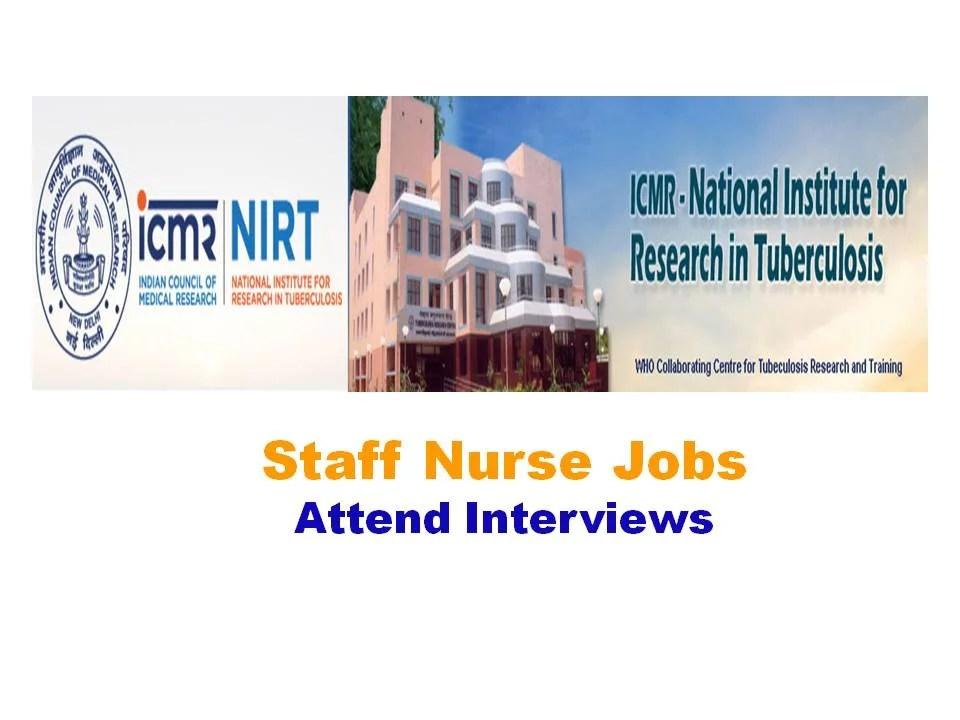 NIRT Recruitment 2019