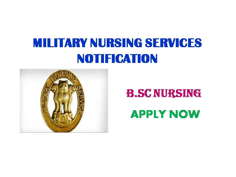 Join Indian Army Military Nursing Services Notification 2019