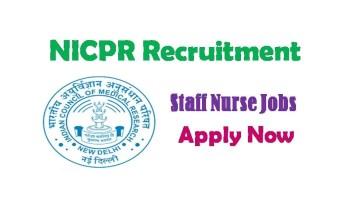 ICMR- NICPR Recruitment