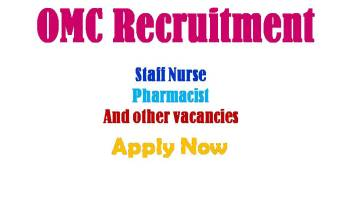 OMC Staff Nurse Recruitment 2020