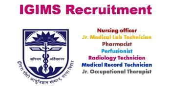 IGIMS recruitment 2020