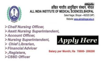 AIIMS Bhopal Nursing Recruitment