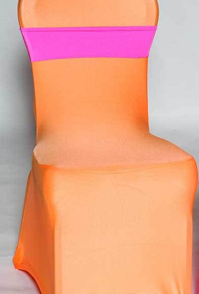 light pink spandex chair covers big office chairs a to z party rental cover neon orange