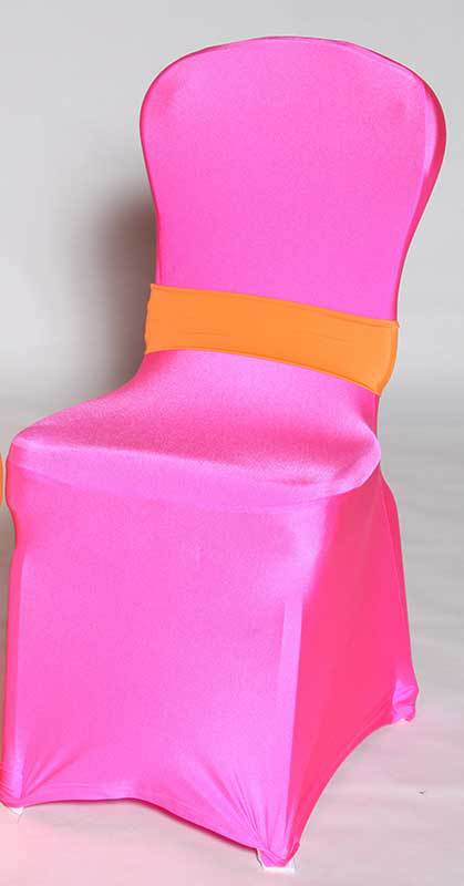 neon pink chair desk no arms a to z party rental spandex cover neonpink