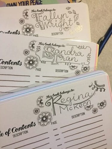 Planner Personalization – Hand Lettered